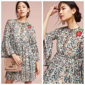 Anthropologie Bhanuni Embroidered Libra Dress 10